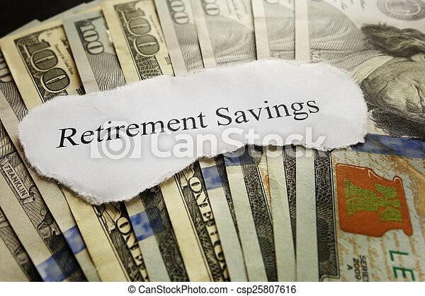 économies, retraite - csp25807616