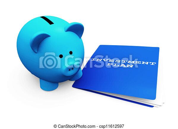 économies, tirelire, investissement - csp11612597
