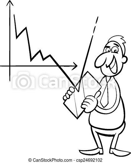 économique, crise, illustration, dessin animé - csp24692102
