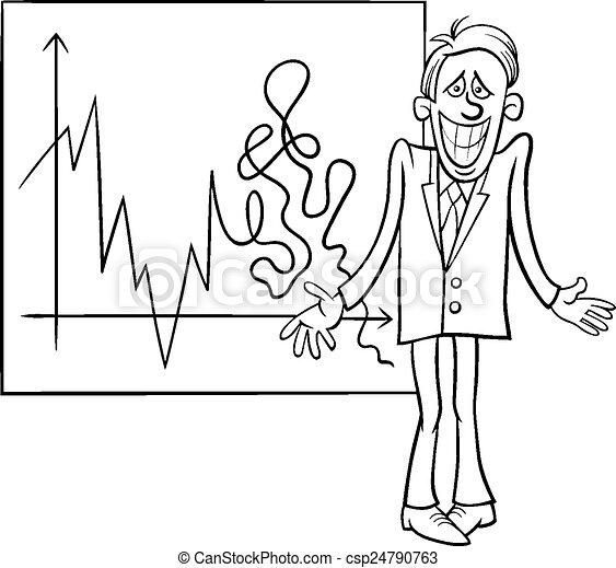 économique, crise, illustration, dessin animé - csp24790763