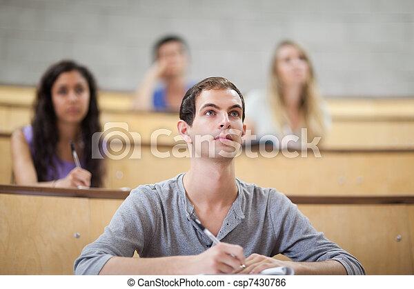 écoute, étudiants, pendant, conférence - csp7430786