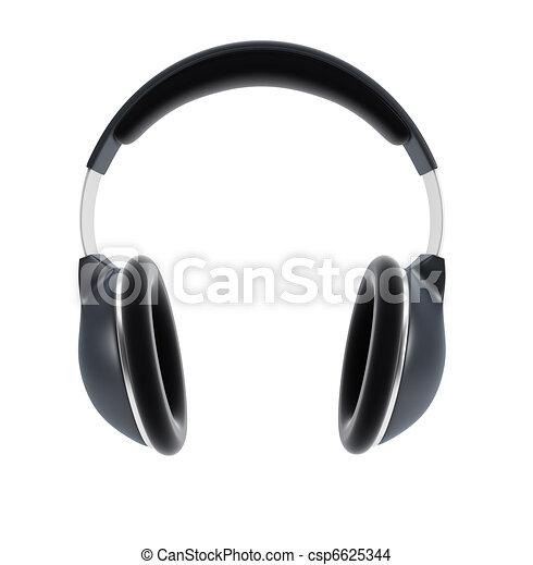 écouteurs, symbolique - csp6625344
