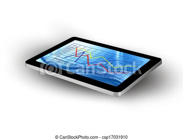 écran, graph., tablette, vector. - csp17031910