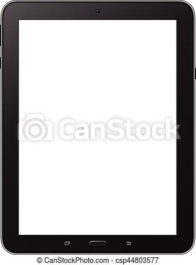 écran, isolé, tablette, vide - csp44803577