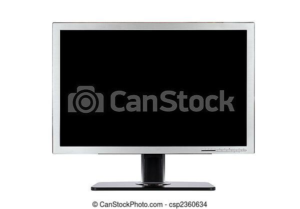 écran plat visualisation, informatique, large - csp2360634