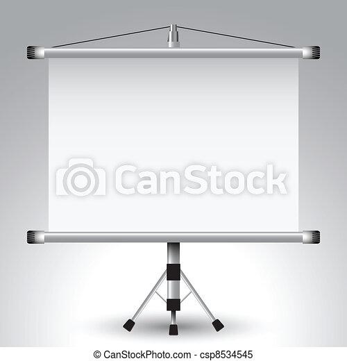 écran, projecteur, rouleau - csp8534545