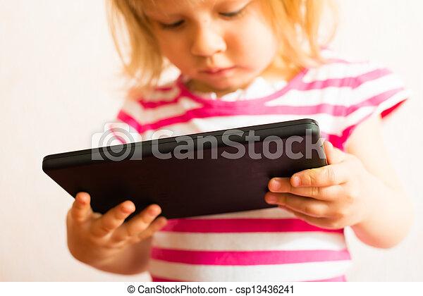 écran tactile, apprentissage, tablette - csp13436241