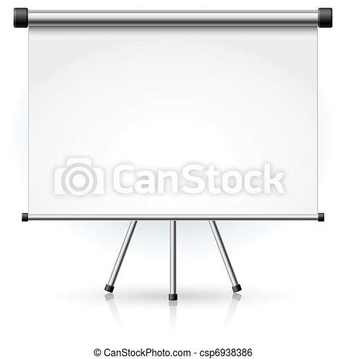 écran, vide, projection, portable - csp6938386