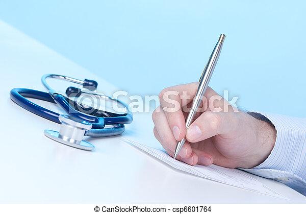 écrire, recette, docteur - csp6601764