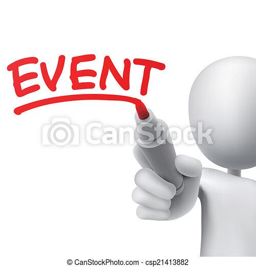 écrit, événement, homme - csp21413882