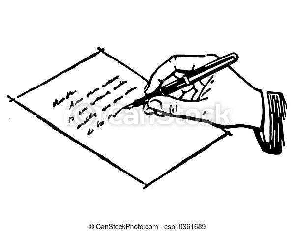 Criture version noir lettre blanc main dessin - Dessin lettre ...