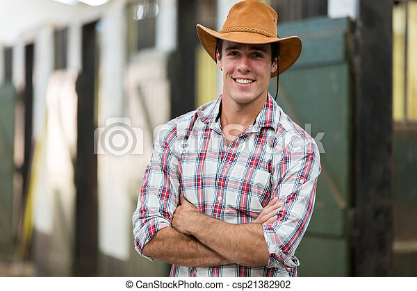 écurie, armes traversés, cow-boy - csp21382902