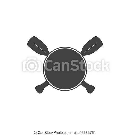 écusson, créer, pagayer, aviron, kayaking, illustration, coutume, vecteur, gabarit, vide, logo. - csp45635761