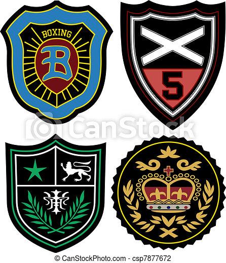 écusson, ensemble, emblème, police - csp7877672