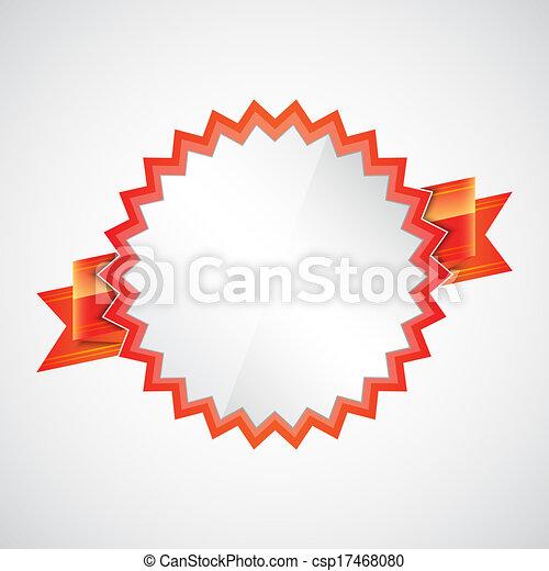 écusson, ruban rouge - csp17468080