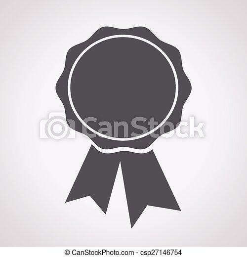 écusson, rubans, icône - csp27146754