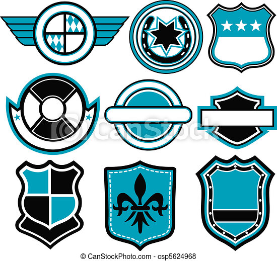 écusson, symbole, conception - csp5624968