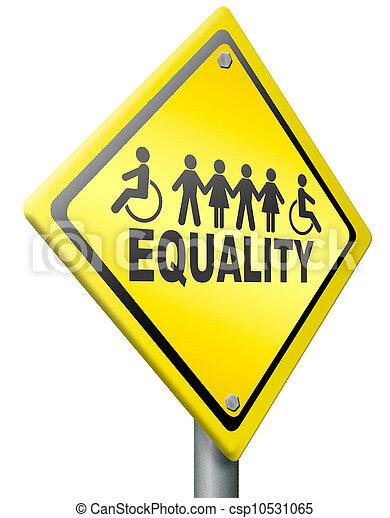 égalité, égal, solidarité, droits - csp10531065