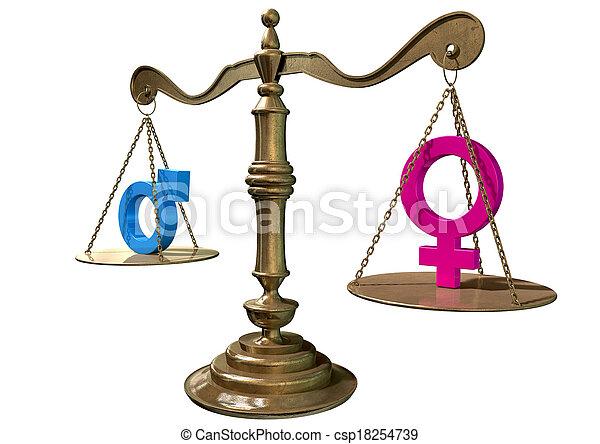 égalité, genre, échelle, équilibrage - csp18254739