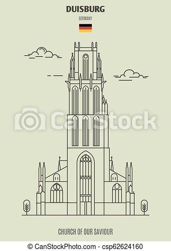 église, germany., repère, sauveur, icône, notre, duisburg - csp62624160