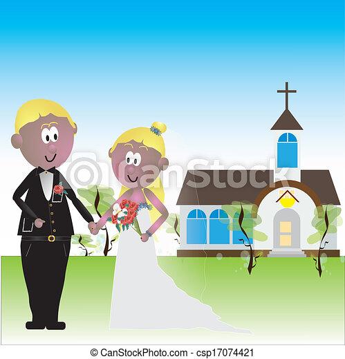 glise mariage mari e church palefrenier dehors illustration vectorielle rechercher des. Black Bedroom Furniture Sets. Home Design Ideas