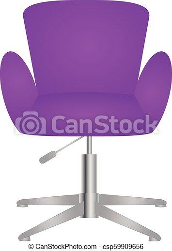 élégant, élégant, chaise, moderne, confortable - csp59909656