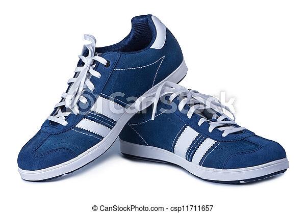 élégant, arrière-plan., blanches chaussures, nouveau - csp11711657
