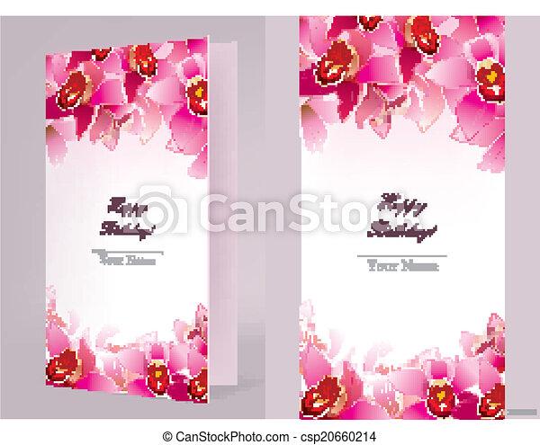 Elegant Carte Anniversaire Orchidee Orchid Eps10 Contient