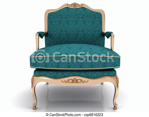 élégant, classique, fauteuil - csp6816223