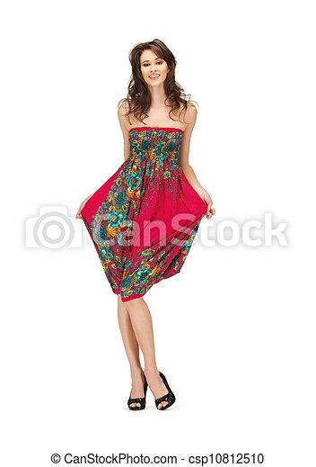 élégant, femme, robe, agréable - csp10812510