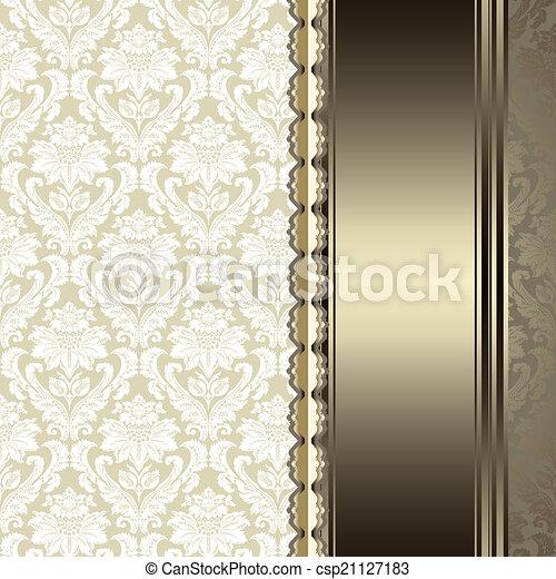 élégant, fond, vendange - csp21127183