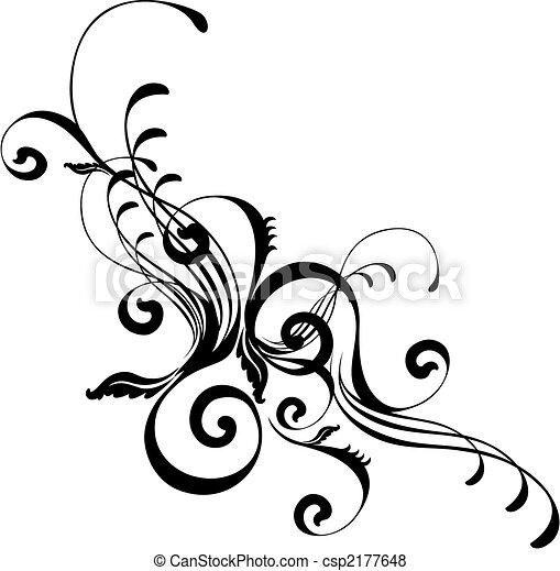 élégant, résumé, ornement - csp2177648
