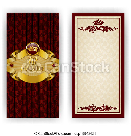 élégant, vip, luxe, gabarit, invitation - csp19942626