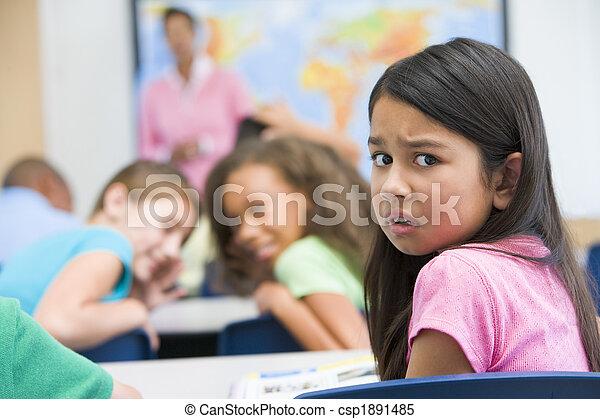 élémentaire, être, école, intimidé, pupille - csp1891485