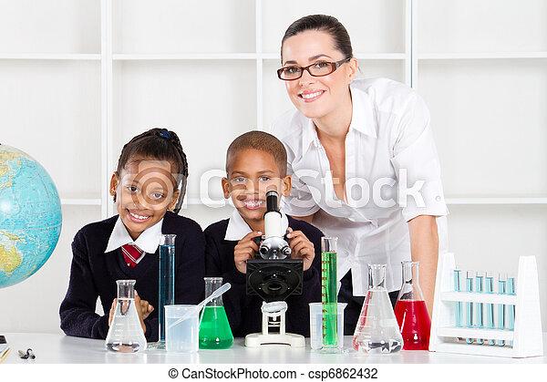 élémentaire, classe science - csp6862432