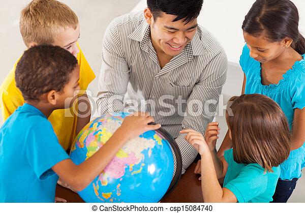 élémentaire, enseignement, eduquer enseignant, géographie - csp15084740