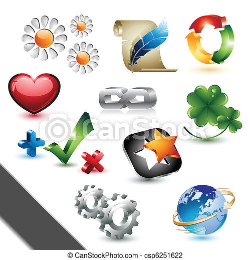 éléments, conception, icônes - csp6251622