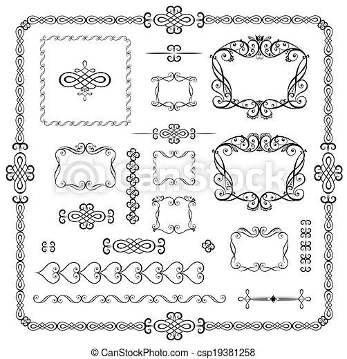 éléments décoratifs - csp19381258