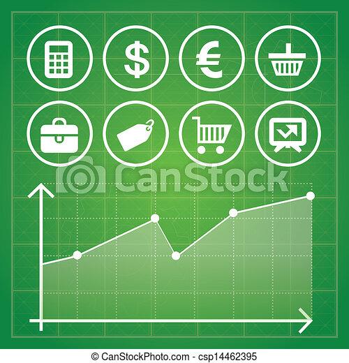 éléments, finance, business, ensemble, vecteur - csp14462395