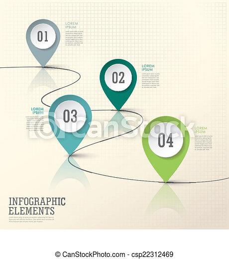 éléments, résumé, papier, moderne, marque, emplacement, infographic - csp22312469
