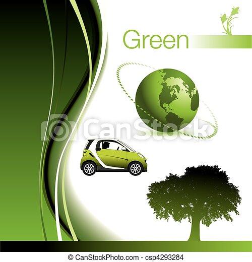 éléments, vert - csp4293284
