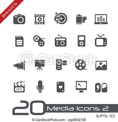 //, élémentsessentiels, multimédia, icônes - csp9542708