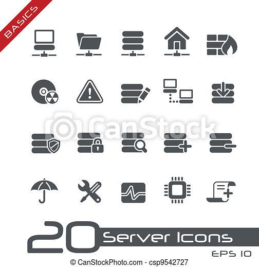 //, élémentsessentiels, serveur, icônes - csp9542727
