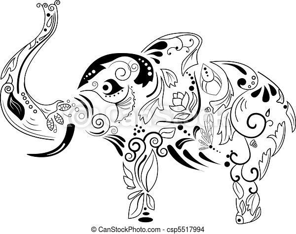 éléphant - csp5517994