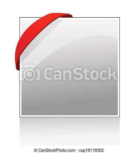 élastique, bannière, coin - csp18118302