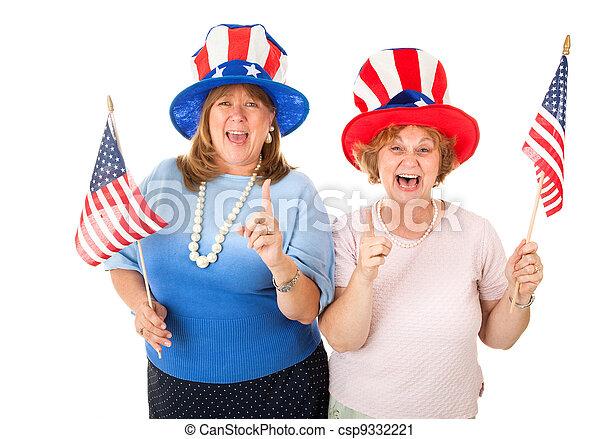 électeurs, photo, stockage, enthousiaste, américain - csp9332221