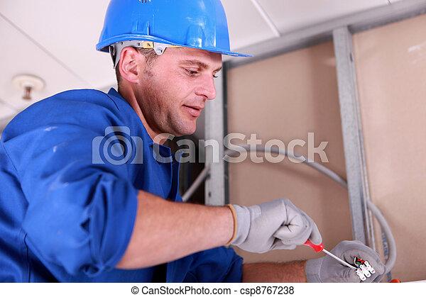 électricien - csp8767238