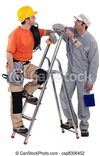 électricien, tenu, peintre - csp8306452