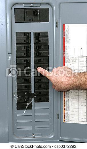 électrique, panneau - csp0372292