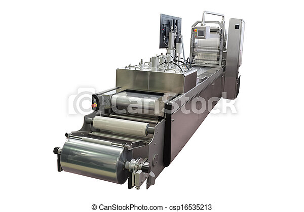 élelmiszer, felszerelés, csomagolás, iparág - csp16535213